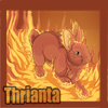 Icon avatar of a Thrianta rabbit (fire of the fancy).
